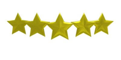 5 star customer service and reviews