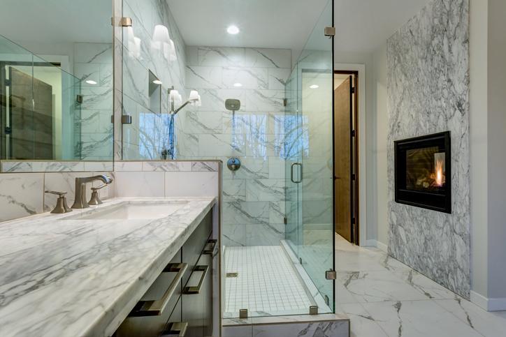 marbled bathrooms