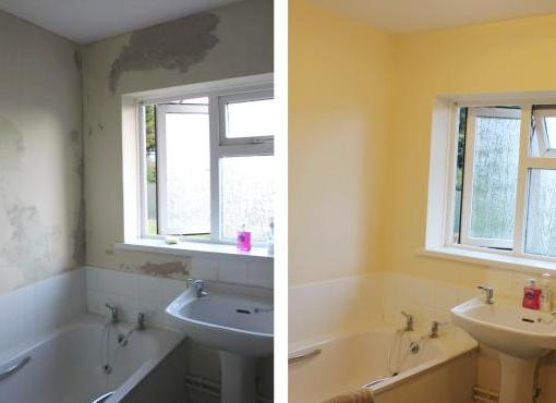 removing mouldy paint in your bathroom