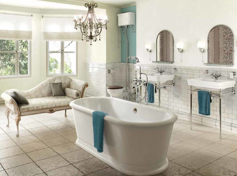 victorian bathroom installation
