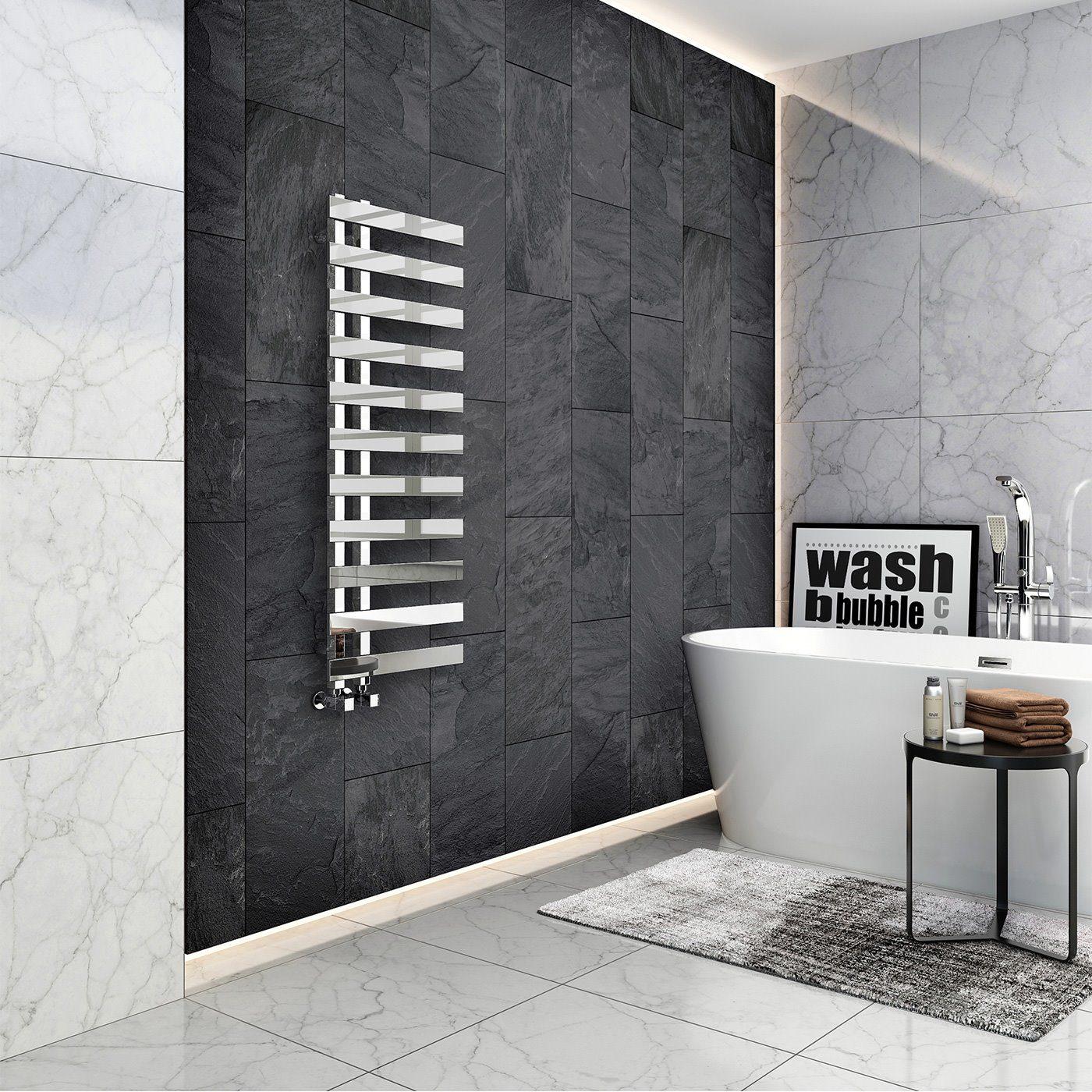 bathroom installations with heating rail